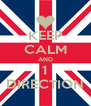 KEEP CALM AND 1 DIRECTION - Personalised Poster A4 size