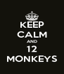 KEEP CALM AND 12 MONKEYS - Personalised Poster A4 size