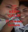 KEEP CALM AND 17 meses juntos - Personalised Poster A4 size