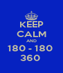KEEP CALM AND 180 - 180  360  - Personalised Poster A4 size