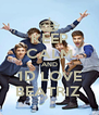 KEEP CALM AND 1D LOVE BEATRIZ  - Personalised Poster A4 size