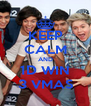 KEEP CALM AND 1D WIN 3 VMAS - Personalised Poster A4 size