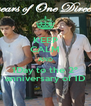 KEEP CALM AND 1Day to the 2º anniversary of 1D - Personalised Poster A4 size