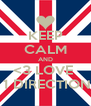 KEEP CALM AND <3 LOVE   1 DIRECTION - Personalised Poster A4 size