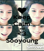 Keep Calm and <3 Sooyoung - Personalised Poster A4 size