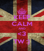 KEEP CALM AND <3 TW :) - Personalised Poster A4 size