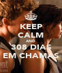 KEEP CALM AND 308 DIAS EM CHAMAS - Personalised Poster A4 size