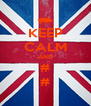KEEP CALM AND # # - Personalised Poster A4 size
