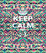 KEEP CALM AND ; )  - Personalised Poster A4 size