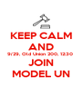 KEEP CALM AND 9/29, Old Union 200, 12:30  JOIN MODEL UN - Personalised Poster A4 size