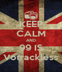 KEEP CALM AND 99 IS Votrackless - Personalised Poster A4 size
