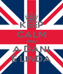 KEEP CALM AND A DANI É LINDA - Personalised Poster A4 size