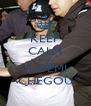 KEEP CALM AND A DEMI CHEGOU - Personalised Poster A4 size
