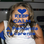KEEP CALM AND A Fernanda Tá carente  - Personalised Poster A4 size