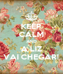 KEEP CALM AND A LIZ VAI CHEGAR! - Personalised Poster A4 size