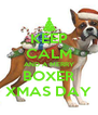 KEEP CALM AND A MERRY BOXER XMAS DAY - Personalised Poster A4 size