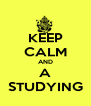 KEEP CALM AND A STUDYING - Personalised Poster A4 size