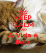 KEEP CALM AND A Vida é Bela - Personalised Poster A4 size