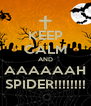 KEEP CALM AND AAAAAAH SPIDER!!!!!!!! - Personalised Poster A4 size
