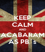 KEEP CALM AND ACABARAM AS PB´s - Personalised Poster A4 size
