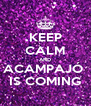 KEEP CALM AND ACAMPAJÓ  IS COMING - Personalised Poster A4 size