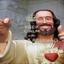 KEEP CALM AND ACEITE A RELIGIÃO DO OUTRO - Personalised Poster A4 size
