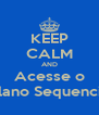 KEEP CALM AND Acesse o Plano Sequencia - Personalised Poster A4 size