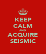 KEEP CALM AND ACQUIRE SEISMIC - Personalised Poster A4 size