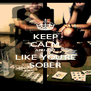 KEEP CALM AND ACT LIKE YOU'RE SOBER - Personalised Poster A4 size