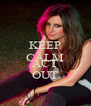 KEEP CALM AND ACT OUT - Personalised Poster A4 size