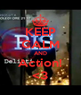 KEEP CALM AND Action! <3 - Personalised Poster A4 size