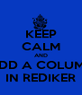 KEEP CALM AND ADD A COLUMN IN REDIKER - Personalised Poster A4 size