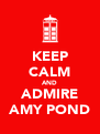 KEEP CALM AND ADMIRE AMY POND - Personalised Poster A4 size