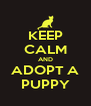 KEEP CALM AND ADOPT A PUPPY - Personalised Poster A4 size