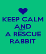 KEEP CALM AND ADOPT  A RESCUE RABBIT - Personalised Poster A4 size
