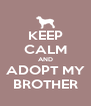 KEEP CALM AND ADOPT MY BROTHER - Personalised Poster A4 size