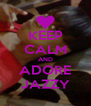 KEEP CALM AND ADORE JAZZY - Personalised Poster A4 size