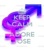 KEEP CALM AND ADORE JOSE - Personalised Poster A4 size