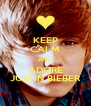 KEEP CALM AND ADORE JUSTIN BIEBER - Personalised Poster A4 size