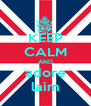 KEEP CALM AND adore laim - Personalised Poster A4 size