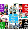 KEEP CALM AND adore mb - Personalised Poster A4 size