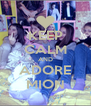 KEEP CALM AND ADORE MION - Personalised Poster A4 size