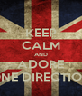 KEEP CALM AND ADORE ONE DIRECTION - Personalised Poster A4 size