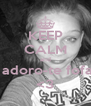 KEEP CALM and  adoro-te fofa <3 - Personalised Poster A4 size
