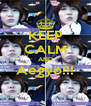 KEEP CALM AND Aegyo!!!  - Personalised Poster A4 size