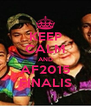 KEEP CALM AND AF2015 FINALIS - Personalised Poster A4 size
