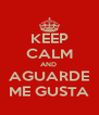 KEEP CALM AND  AGUARDE ME GUSTA - Personalised Poster A4 size