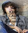 KEEP CALM AND Alessandro Casillo è figo - Personalised Poster A4 size