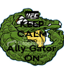 KEEP CALM AND Ally Gator ON - Personalised Poster A4 size