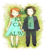 KEEP CALM AND ALWAYS  - Personalised Poster A4 size